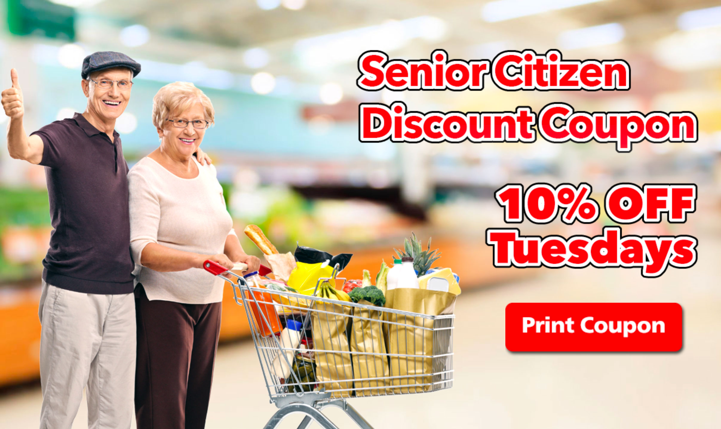 Senior Citizen Discount 10% Off Tuesdays